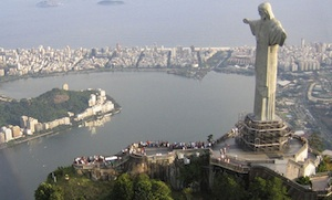 Cristo o Redentor statue over Rio de Janeiro