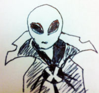 All Hail Xenu, Doodled by Mike