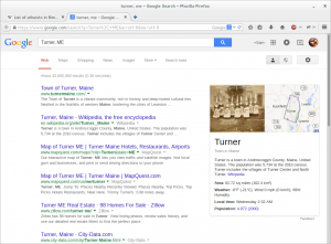 Google Search Turner, ME.