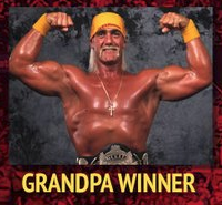 "As it happens, Sam's baptismal name is ""Grandpa Winner."" Image care of @thepunningman, and if Dan hasn't followed, I'd be surprised."