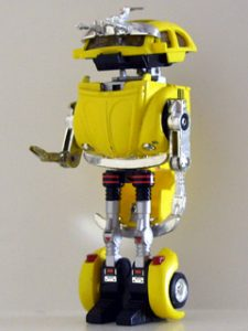 Here is the toy Sam is talking about.   His did not have the metal junk on its head.  More information at a Wikia page.